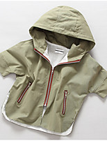 Girl's Casual/Daily Solid Down & Cotton PaddedCotton Spring / Fall Green / Pink