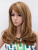 Fashion Wave Wig Blonde Brown Mixed Color Synthetic African American Women Wigs