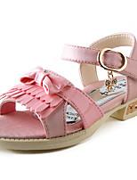 Розовый / Фиолетовый / Красный-Для девочек-На каждый день-Замша-На плоской подошве-С открытым носком-Кеды