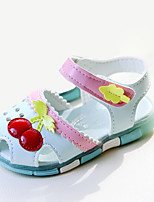 Girl's Sandals Summer Sandals / Round Toe PU Casual Flat Heel Others / Hook & Loop Blue / Pink / White Others