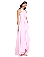 Lanting Bride®Asymmetrical Taffeta Bridesmaid Dress - Elegant A-line Jewel with Draping