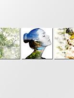 Холст Set Абстрактные пейзажи Modern,3 панели Холст Горизонтальная Печать Искусство Декор стены For Украшение дома