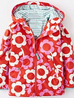 Girl's Casual/Daily Floral Suit & BlazerCotton Spring / Fall Green / Purple / Red
