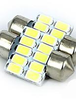 nueva luz de bóveda del coche de doble punta de la luz del coche -5630-10led lámpara de lectura super luminoso
