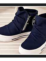 Unisex Loafers & Slip-Ons Spring Fall Cotton Casual Flat Heel Others Black Blue Red Other