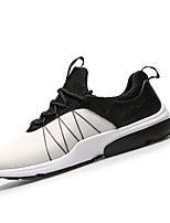 Men's Sneakers Spring / Fall Comfort PU Casual Flat Heel Black / Blue / White / Gray Sneaker