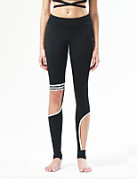 Pantalon de yoga Collants Respirable / Séchage rapide / Anti-transpiration / Confortable Taille moyenne Extensible Vêtements de sport