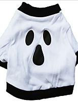 Hunde T-shirt / Jeansjacken Weiss Hundekleidung Winter Vampire Halloween /