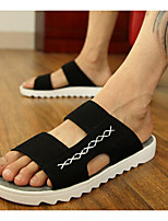 Men's Sandals Summer Flats Synthetic Casual Flat Heel Black / Blue / Yellow / Gray Others