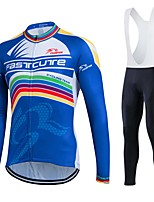 Fastcute® Cycling Jersey with Bib Tights Women's / Men's / Unisex Long Sleeve BikeBreathable / Quick Dry / Moisture Permeability /