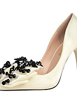 Women's Heels Winter Comfort Silk Dress Stiletto Heel Bowknot Black / Pink / Purple / Gray / Beige Walking