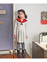 Girl's Going out Striped SkirtCotton Spring / Fall White