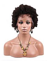 14-24 дюймов 100% бразильские виргинские волосы полный парик шнурка скручиваемость Afro парики для черных женщин натуральный черный цвет 1