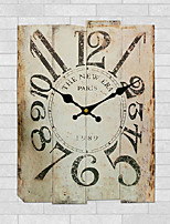 1PC European style Office Bracket Clock The Bedroom The Clock Restore Ancient Ways Do Old Solid Wood Wall Clock