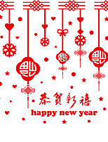 Wall Stickers Wall Decals Happy New Year Feature Removable Washable PVC