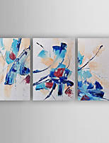 Oil Painting Abstract Set of 3 Hand Painted Canvas with Stretched Framed Ready to Hang