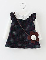Girl's Casual/Daily Polka Dot Clothing SetCotton Spring / Fall Gray