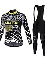 MALCIKLO fleece Cycling Jerseys Autumn/Wither Cashmere Thermal warm Bicycle wear Long Sleeve mtb Cycling Clothing