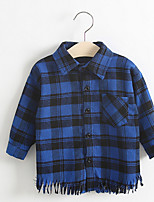 Girl's Casual/Daily Plaid Suit & BlazerCotton Spring / Fall Blue
