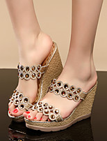 Women's Sandals Summer Platform PU Casual Wedge Heel Others Gold Others