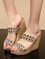 Women's Sandals Summer Platform PU Casual Wedge Heel Platform Others Rose Gold Other