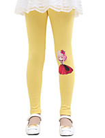 Girl's Casual/Daily Solid LeggingsCotton Fall Black / Yellow / Gray