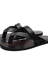 Girl's Slippers & Flip-Flops Summer PU Casual Flat Heel Buckle Black Brown White Other