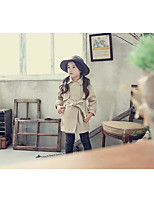 Girl's Casual/Daily Solid Suit & BlazerCotton Spring / Fall Brown