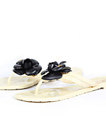 Women's Slippers & Flip-Flops Summer Flip Flops / Open Toe PVC Casual Flat Heel Applique Others
