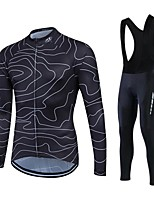 Winter Thermal Fleece Cycling Jersey Ropa Ciclismo Long Velveteen Sleeve Wear Maillot Bib Tights Cycling Clothing