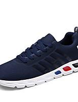 Черный Синий Серый-Мужской-Повседневный-Полиуретан-На плоской подошве-Удобная обувь-Кеды