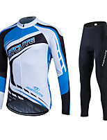 Spring Autumn Long Sleeve Cycling Jersey Sets Breathable Gel Padded Bicycle shirt Sportswear Mountain Bike Clothings