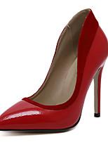Damen-High Heels-Kleid / Lässig / Party & Festivität-Kunstleder-Stöckelabsatz-Absätze / Spitzschuh-Schwarz / Rot