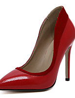 Damen-High Heels-Kleid Lässig Party & Festivität-Kunstleder-StöckelabsatzSchwarz Rot