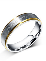 Women's Ring Simple Elegant Titanium Steel Ring Jewelry For Wedding Anniversary Party/Evening Daily Engagement
