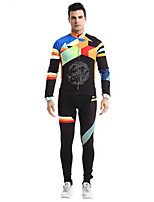 Sports Cycling Pants Men's Long Sleeve Bike Breathable / Quick Dry / Comfortable Clothing Sets/Suits Fleece Classic SummerExercise &