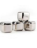 4 pièces / lot pierres de whisky en acier inoxydable cubes de glace de roche boisson stéatite congélateur