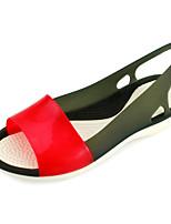 Damen-Sandalen-Lässig-PVC-Flacher Absatz-Gelee-Schwarz Blau Grün Rosa Lila
