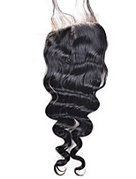 8-20inch Bleached Knots Lace Closure Loose Wave Closure Best Virgin Brazilian Closures Free Part Closure