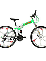 JieBao 26 Inch 21-Speed Mountain Bike Double Disc Variable Speed Folding