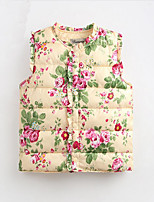 Girl's Casual/Daily Floral Tank & Cami / Down & Cotton PaddedNylon Winter / Fall Blue / Beige