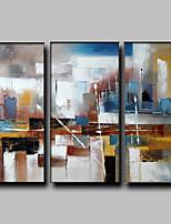 Handgemalte Abstrakt / Fantasie Ölgemälde,Modern / Europäischer Stil Drei Paneele Leinwand Hang-Ölgemälde For Haus Dekoration
