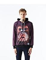 Inspired by 3D Gorilla Long Sleeve Hoodie Cosplay Hoodies Print Long Sleeve Coat Clothing Round Halloween