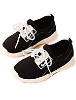 Unisex Flats Spring / Summer / Fall / Winter Round Toe PU Casual Flat Heel Others / Lace-up Black / Blue / Red Others