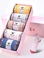 DOUBLE LIONS Women's Wool Socks 5/box-WM7046