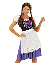 Costumes Plus de costumes Halloween / Fête d'Octobre Pourpre claire / Blanc Mosaïque Térylène Robe / Plus d'accessoires