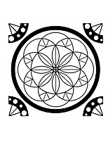 Mandala Flower Namaste Vinyl Sticker Art Decor Mandala For Religion Removable Mandala Wall Stickers