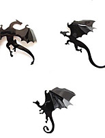 7Pcs Black 3D DIY PVC Halloween Dragon Wall Sticker Decals Home Decor Decoration