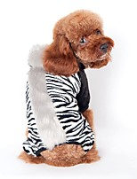 Dog Costume Clothes/Jumpsuit Dog Clothes Winter Spring/Fall Animal Cute Cosplay Black Brown Pink