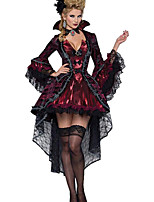 Cosplay Costumes / Party Costume Vampire Festival/Holiday Halloween Costumes Red Solid Dress / Necklace Halloween Female Terylene